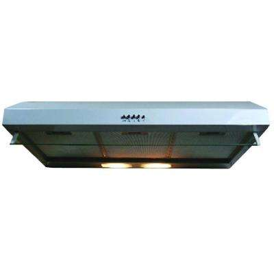 Builder Series 36 in. 300 CFM Under Cabinet Hood with Light in White