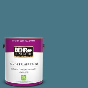 Behr Premium Plus 1 Gal Ppu13 03 Catalina Coast Eggshell Enamel Low Odor Interior Paint And Primer In One 230001 The Home Depot