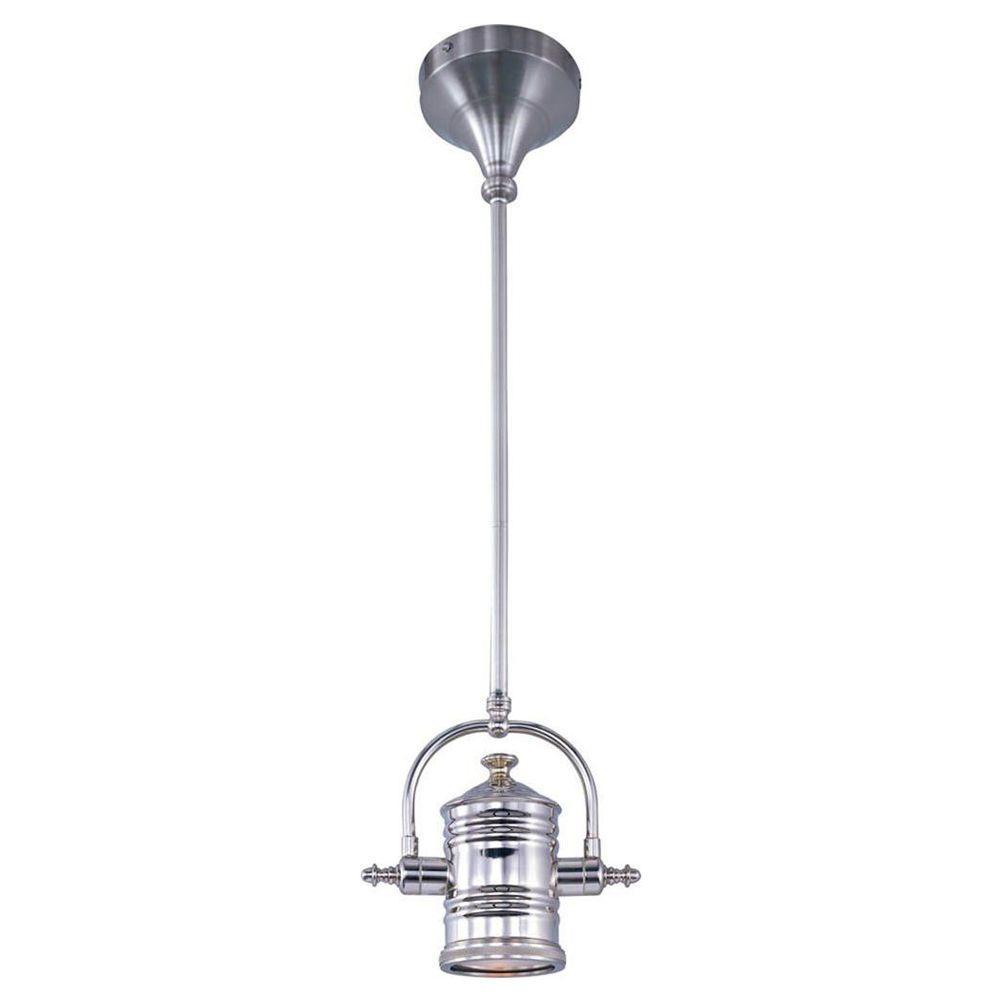 Maxim Lighting Hi Bay 1 Light Satin Nickel Pendant 25125ftsn The Home Depot