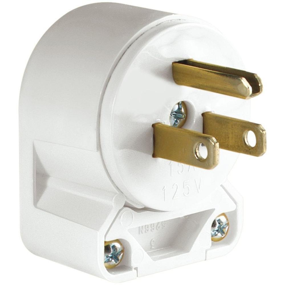 15 Amp 125-Volt Heavy Duty Grade Vinyl Plug - White