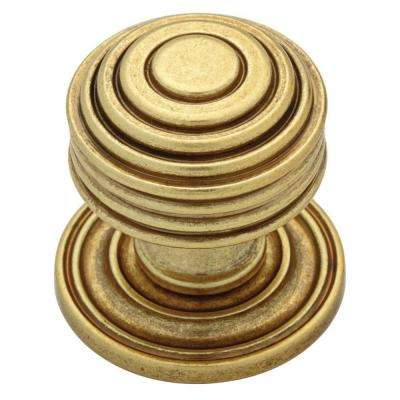 Beehive 1-1/16 in. (27mm) Bedford Satin Brass Round Cabinet Knob