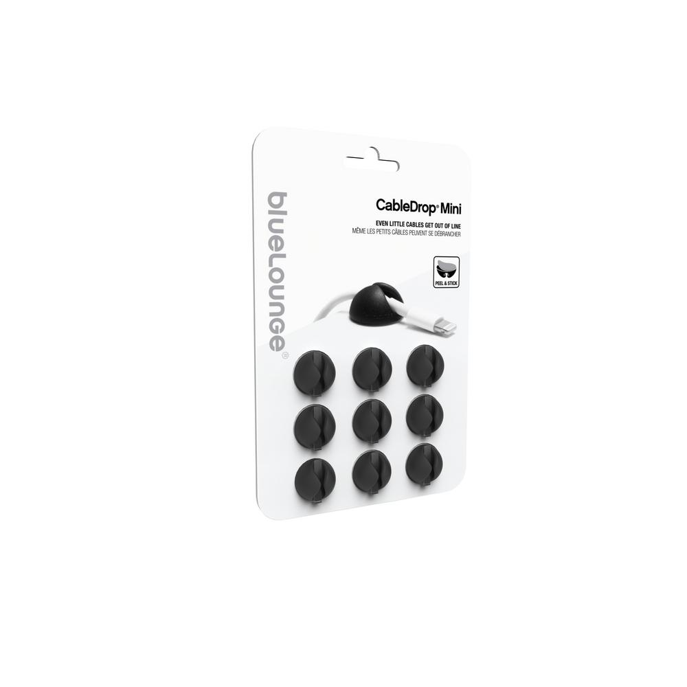 CableDrop Mini, Black (9-Pack)