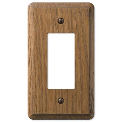 Contemporary 1 Gang Rocker Wood Wall Plate - Medium Oak