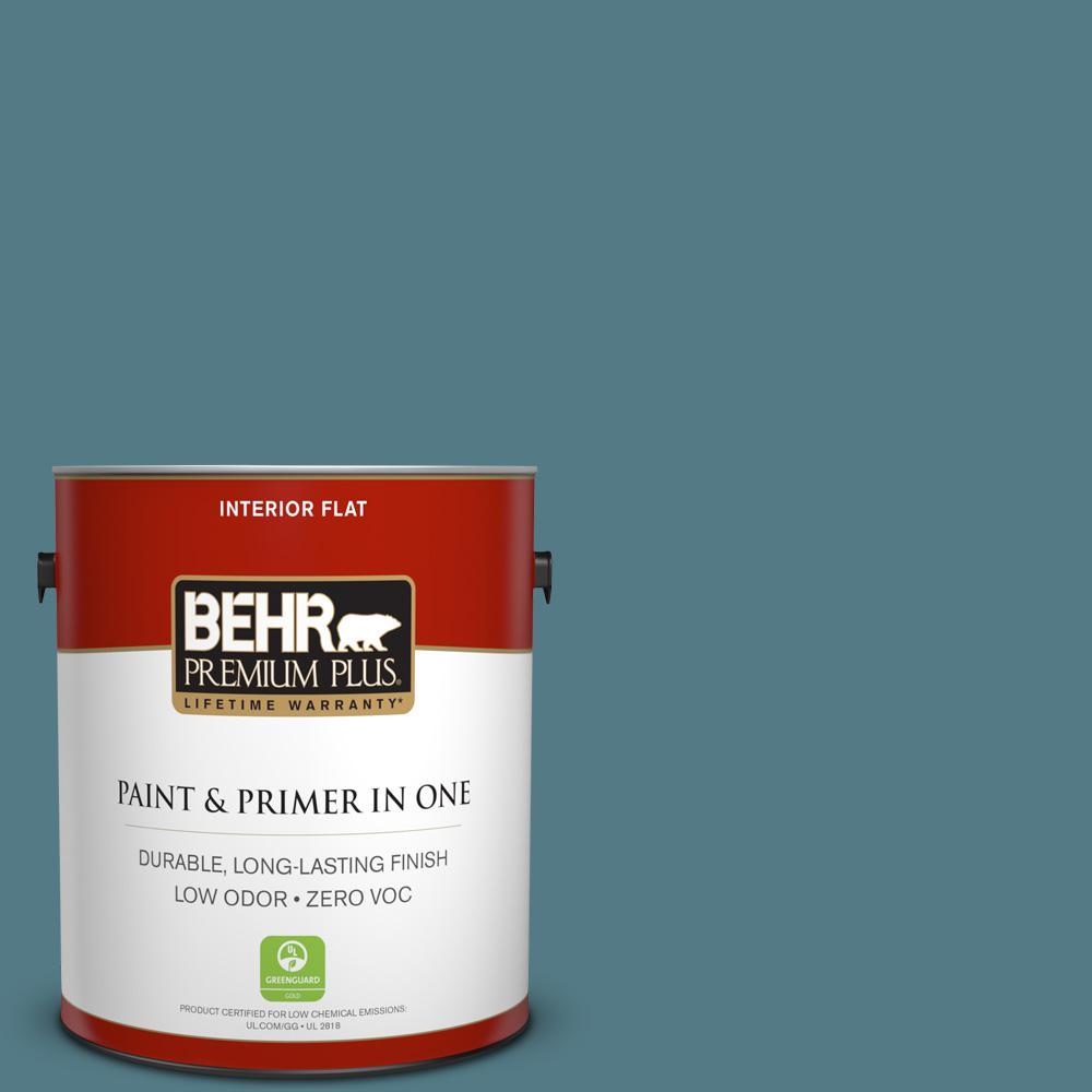 BEHR Premium Plus 1-gal. #540F-5 Smokey Blue Zero VOC Flat Interior Paint