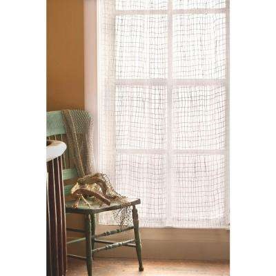 Semi-Opaque Seacoast 45 in. L Polyester Valance in White