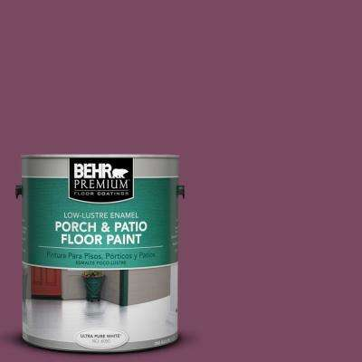 1 gal. #PPU1-19 Classic Berry Low-Lustre Porch and Patio Floor Paint