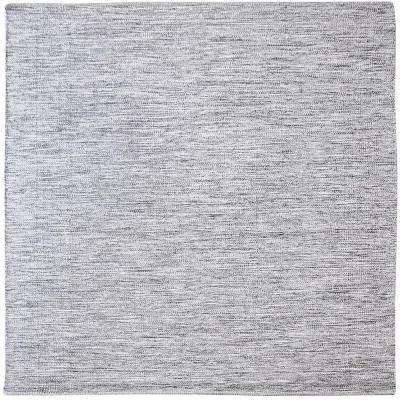 Alena Black and White 6 in. x 6 in. Square Indoor Area Rug