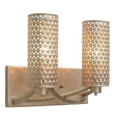 Casablanca 2-Light Zen Gold Vanity Light
