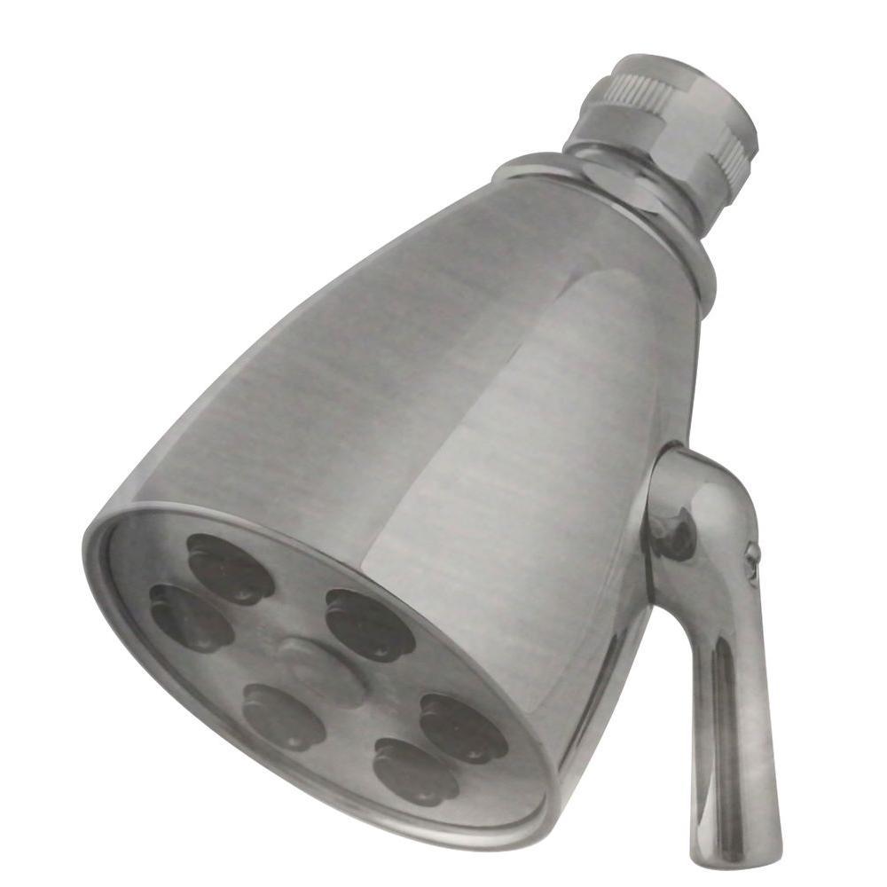 6-Spray 2-1/4 in. Adjustable Showerhead in Satin Nickel