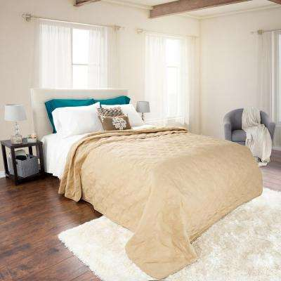 Classic Taupe Polyester Twin Quilt
