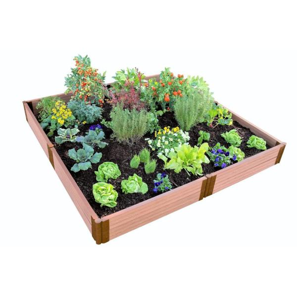 Two Inch Series 8 ft. x 8 ft. x 11 in. Classic Sienna Composite Raised Garden Bed Kit