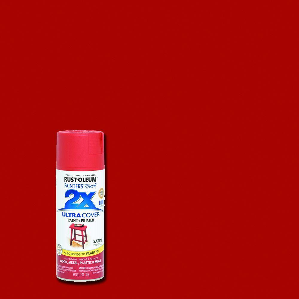 rustoleum touch 2x 12 oz satin paprika general purpose spray paint