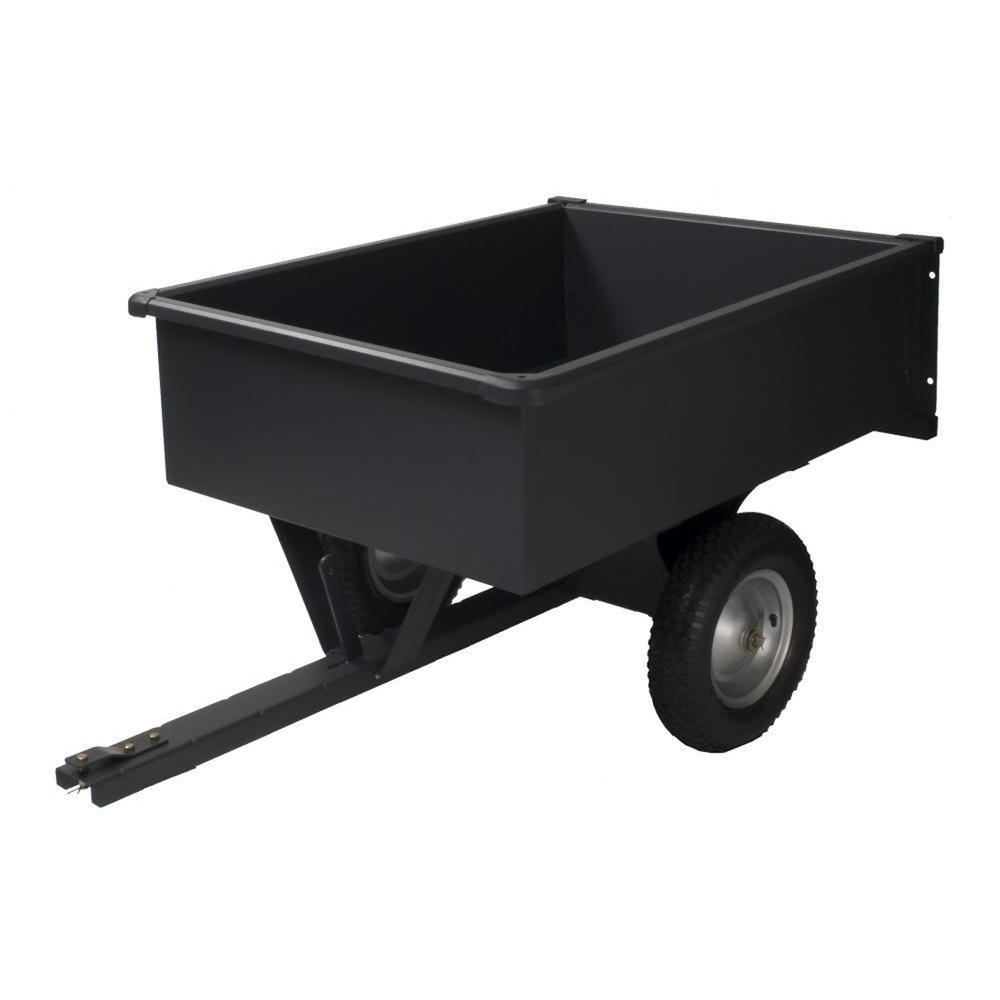 Precision 10 cu. ft. Steel Trailing Dump Cart by Precision
