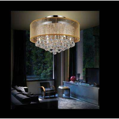 Radiant 12-Light Chrome Semi-Flush Mount