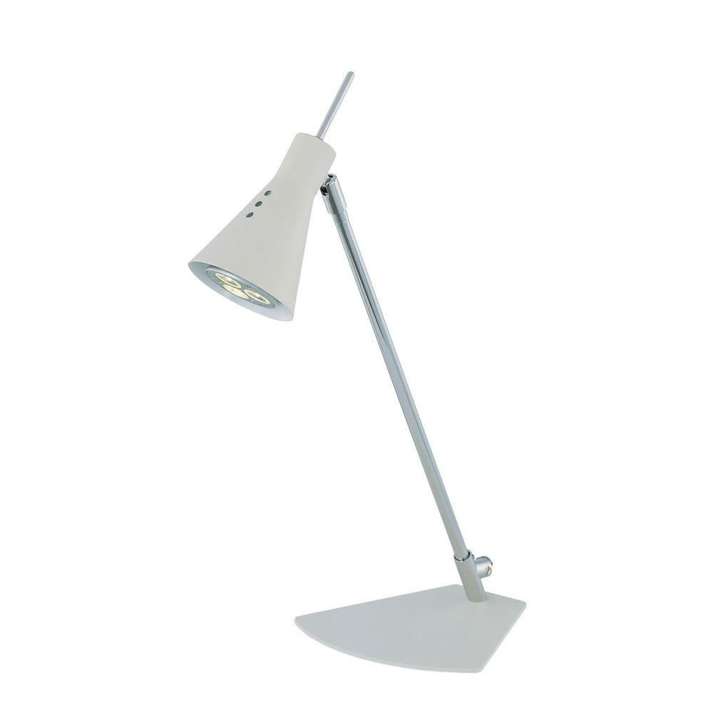 Illumine 14.75 in. White and Chrome LED Desk Lamp