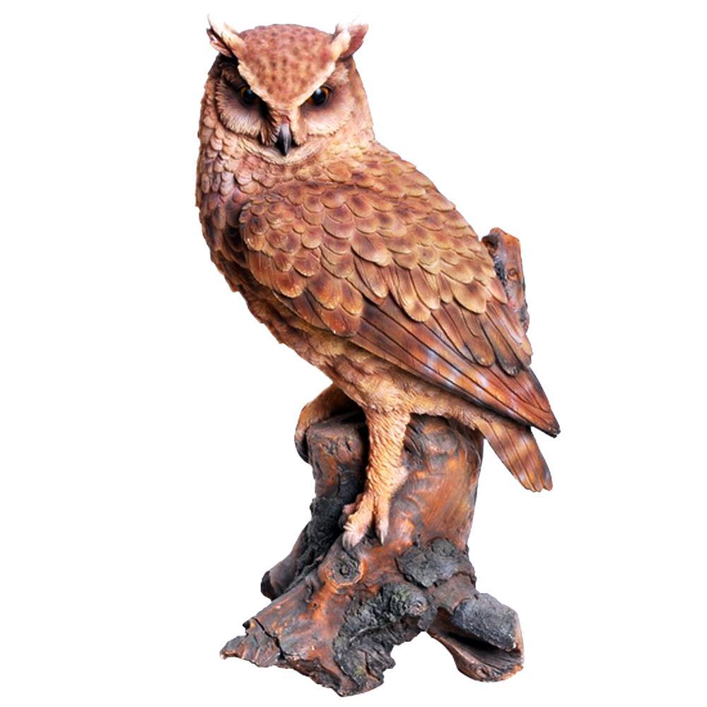 Great Horned Owl on Stump