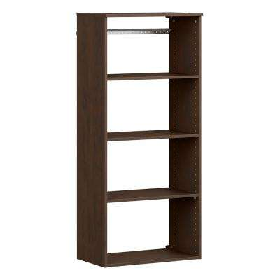 Style+ 14.59 in. D x 25.12 in. W x 56.48 in. H Chocolate Wood Closet System Hanging Tower