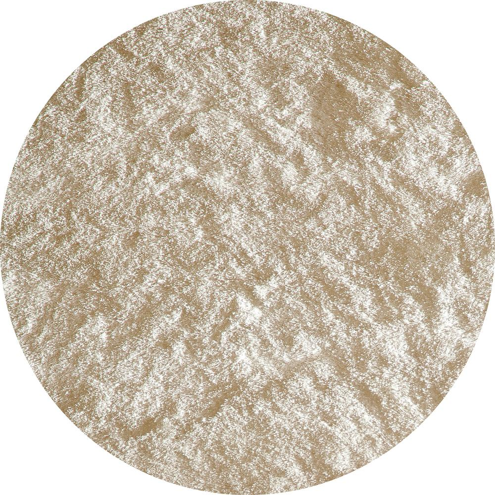 Luster Shag White 4 ft. x 4 ft. Round Indoor Area