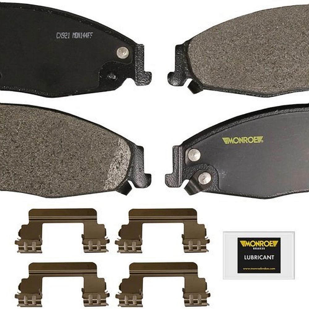 Front Monroe Total Solution Ceramic Brake Pads fits 2005-2008 Pontiac Grand Prix