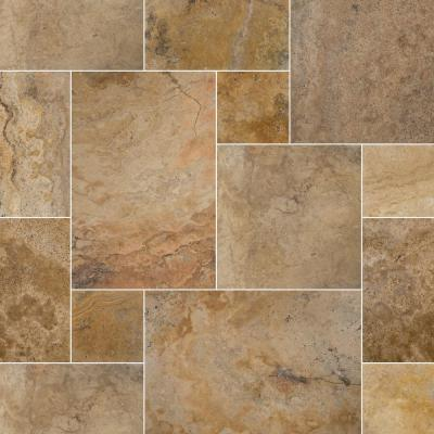Porcini Pattern Tumbled Travertine Paver Kits (30-Kits/480 sq. ft./Pallet)