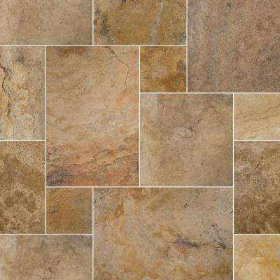 Porcini Pattern 24 in. x 16 in. x 1.18 in. Tumbled Travertine Paver Kits (30-Kits/480 sq. ft./Pallet)