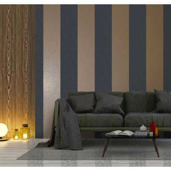 Walls Republic Navy Aztec Stripe Wallpaper