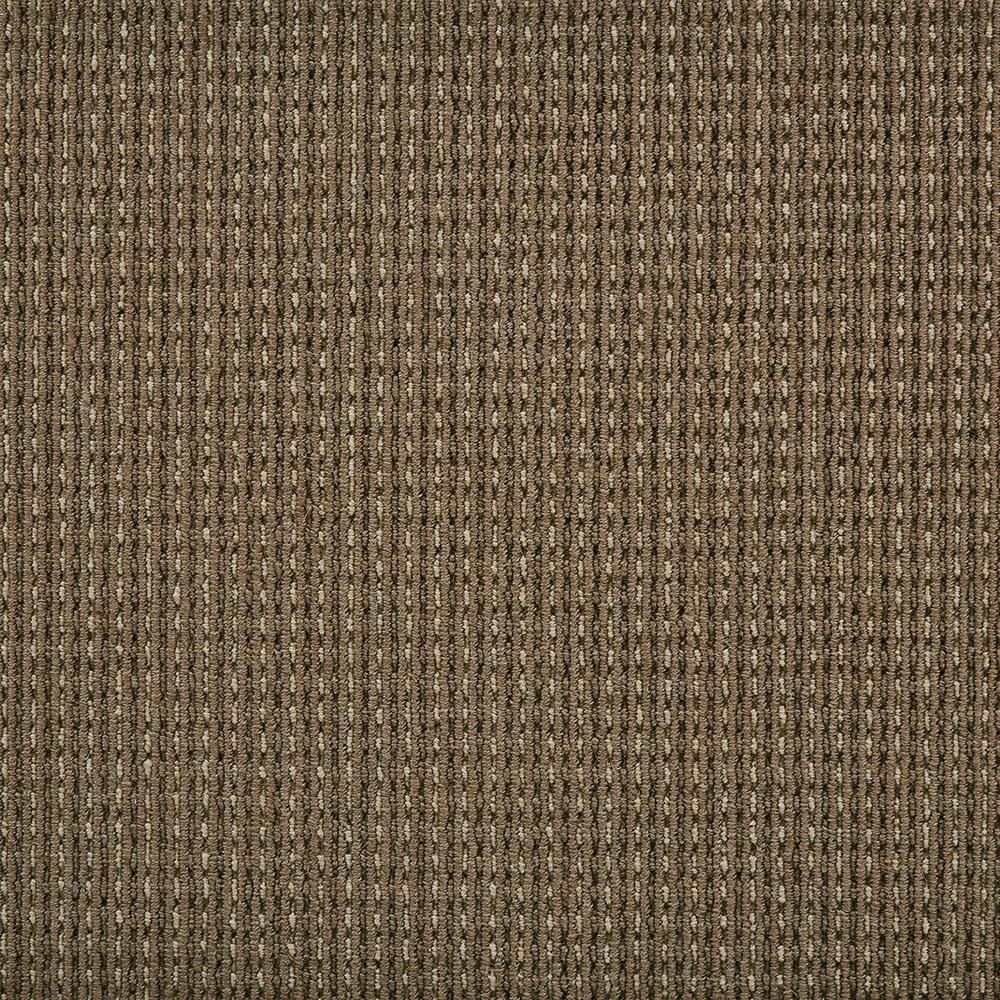 Carpet Sample - Upland Heights - Color Mochachino Pattern Loop 8