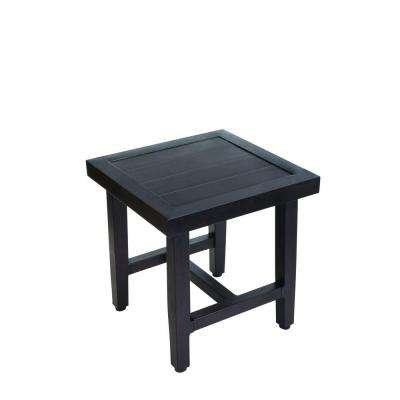 Woodbury Wood Outdoor Patio Accent Table. Outdoor Side Tables   Patio Tables   The Home Depot