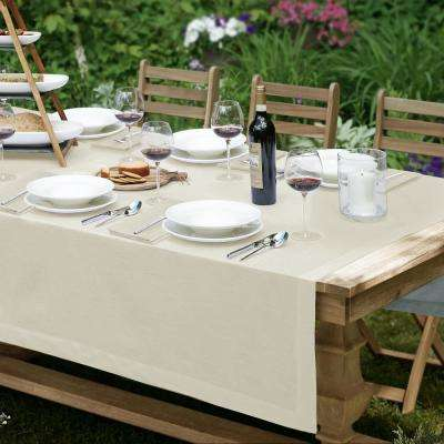 La Classica 70 in. x 70 in. Square Fabric Tablecloth in Ivory
