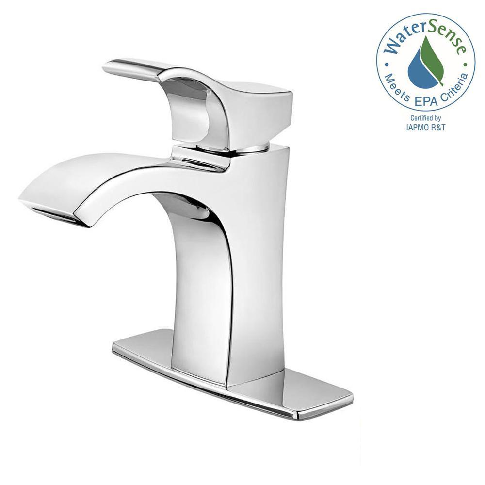 Venturi Single Hole Single-Handle Bathroom Faucet in Polished Chrome