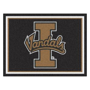 NCAA - University of Idaho Black 10 ft. x 8 ft. Indoor Rectangle Area Rug