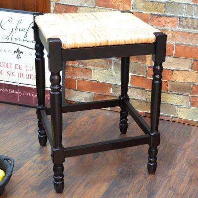 Hawthorne 23.75 in. Antique Black Bar Stool