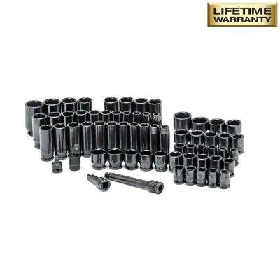1/2 in. Drive SAE/Metric Impact Socket Set (64-Piece)