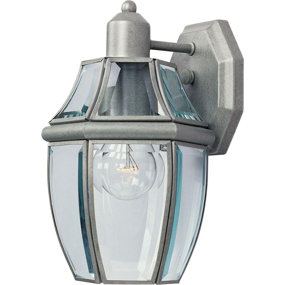 Oriax Infinite Wall-Mount 1-Light Outdoor Pewter Incandescent Lantern-DISCONTINUED
