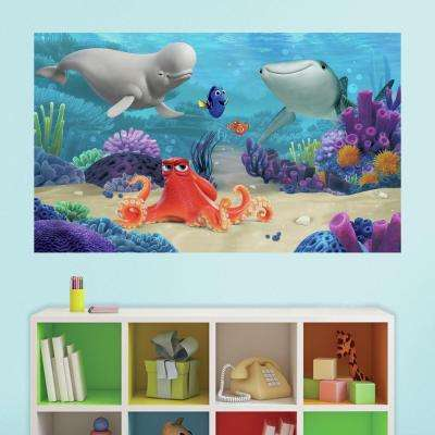 60 in. W x 36 in. H Finding Dory 2- Piece Peel and Stick Wall Decal Mural