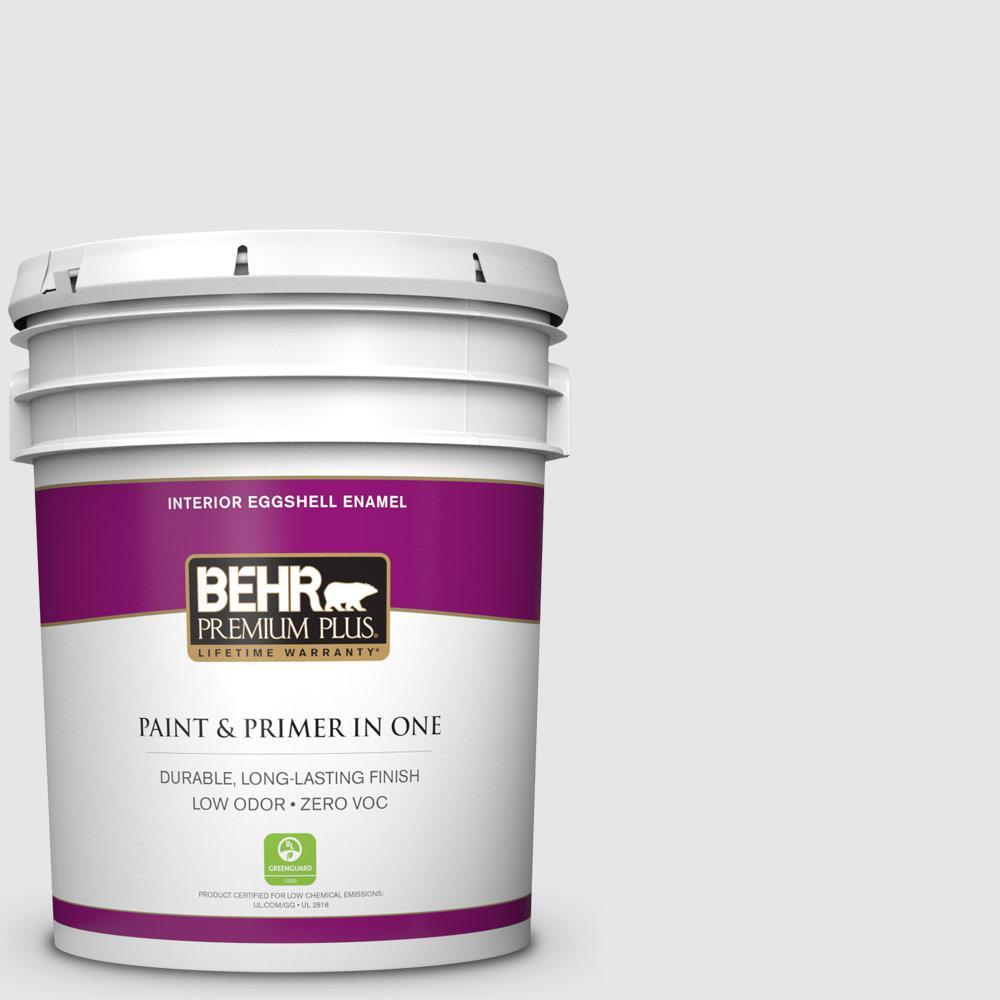 BEHR Premium Plus 5-gal. #PR-W9 Nimbus Cloud Eggshell Enamel Interior Paint