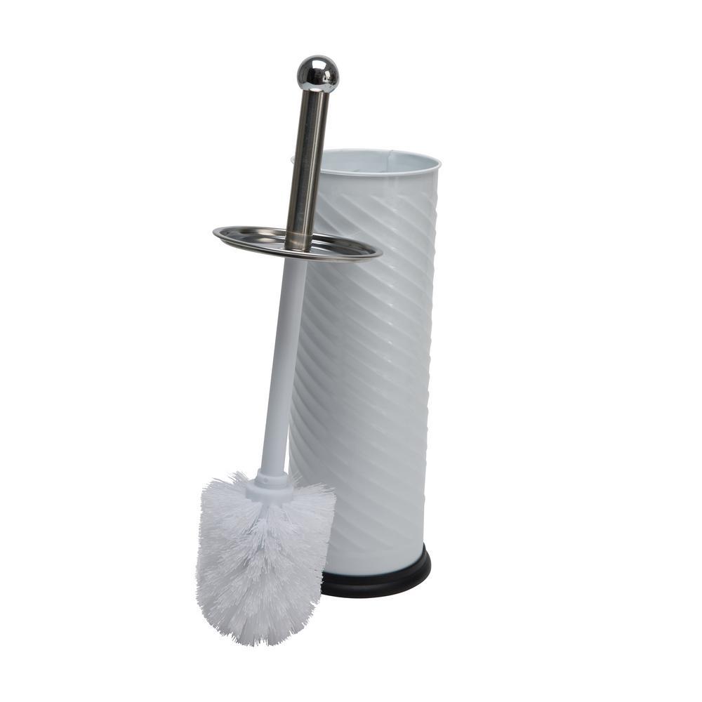 Toilet Brush Holder with Swirl Design