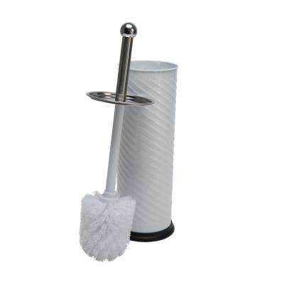 Toilet Brush Holder with Swirl Design