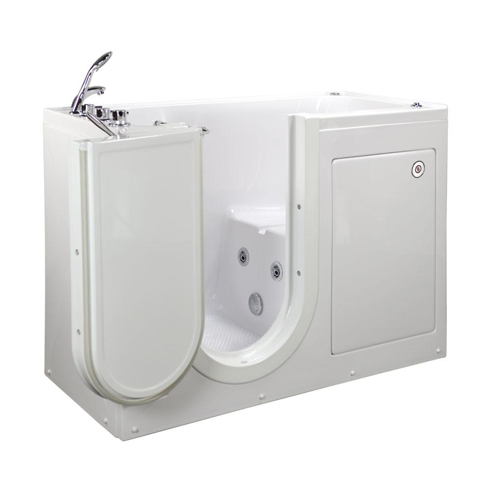 walk in tub with heated seat. Lounger Acrylic Walk In Whirlpool Tub in White  LHS Outward Ella 60