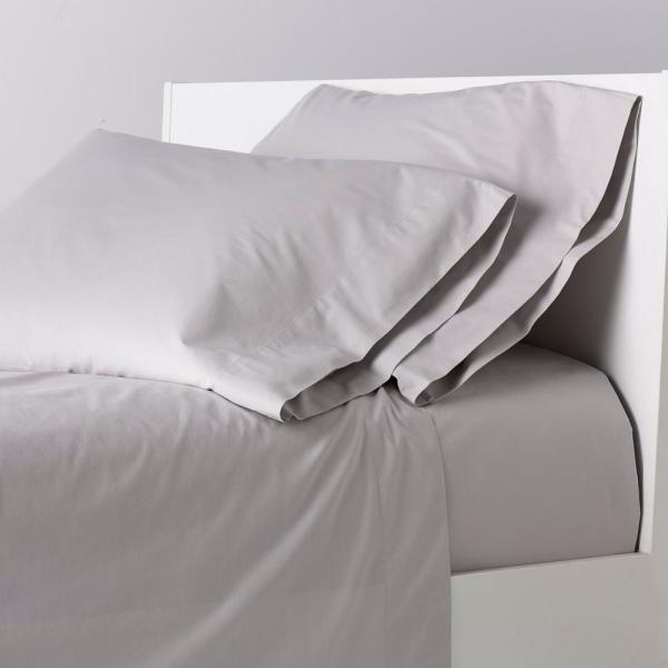 The Company Garment Washed 4 Piece Cloud Gray 200 Thread Count Cotton