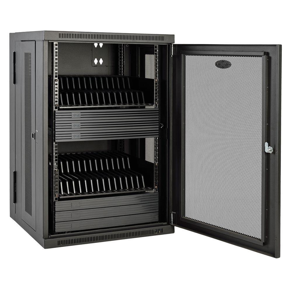 32-Port AC Chromebook Charging Station - Black