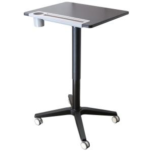 26 in. Rectangular Black/White Standing Desk with Adjustable Height Feature