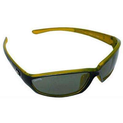 Black/Yellow Frame Backspray Sunglasses with Silver Mirror Lenses