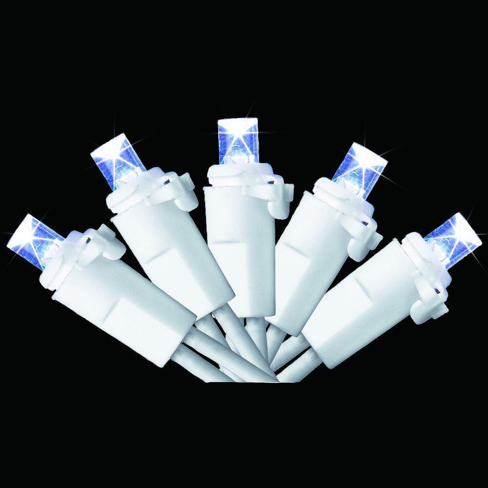 70-Light LED Cold White Dome Icicle Light Set