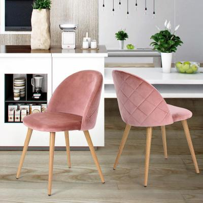 Zomba Pink Velvet Dining Chair (Set of 2)