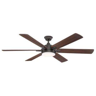 Carden 66 in. LED Espresso Bronze Ceiling Fan with Light and Remote Control