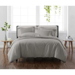Solid Grey Twin/Twin XL 2-Piece Duvet Cover Set