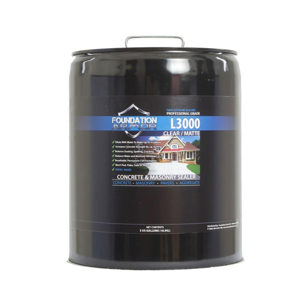 Foundation Armor L3000 5 Gal Concentrated Lithium Silicate Concrete Sealer Densifier And
