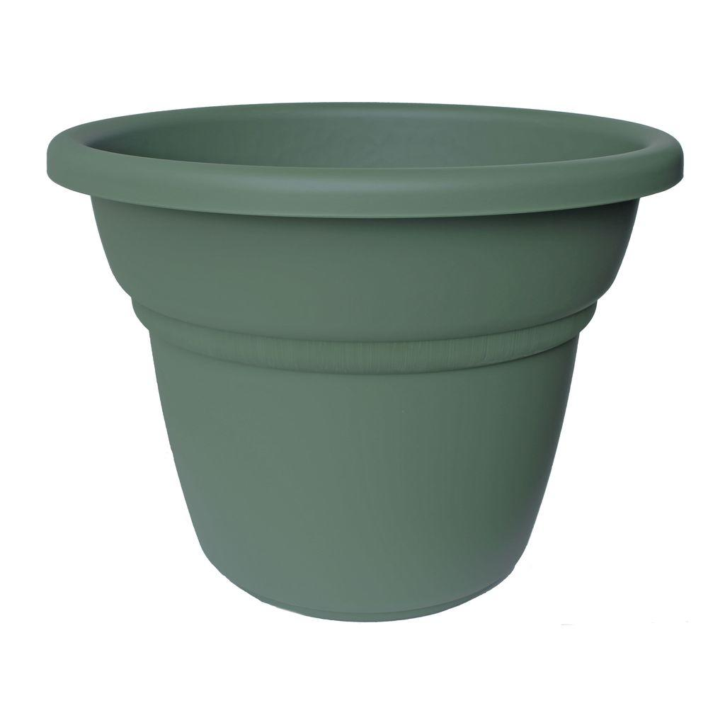 Bloem 18 in. Living Green Plastic Milano Planter