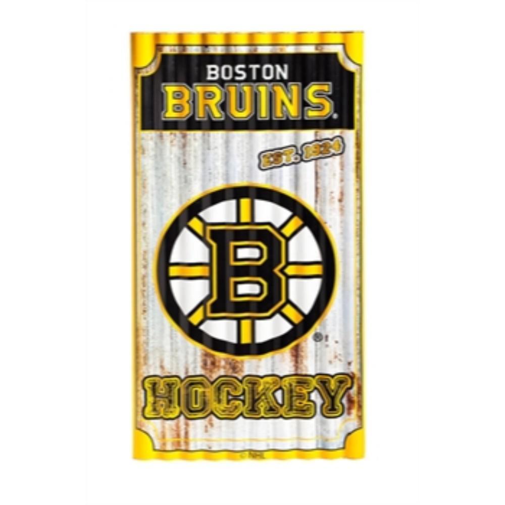 Boston Bruins NHL Corrugated Metal Indoor/Outdoor Wall Art